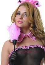 Розовая щеточка горничной - 35 см, цвет розовый/черный - Le Frivole
