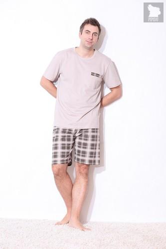 "Футболка и шорты ""PMB1171-1"" BROWN, цвет коричневый, размер M - DN"