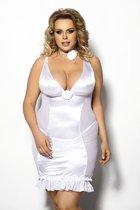 Сорочка Tanise, цвет белый, 3XL-4XL - Gorgeous+