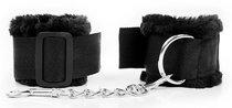 Черные наручники на регулируемых пряжках, цвет черный - Bioritm