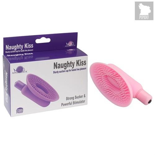Вакумная помпа розовая Naughty Kiss 54003-pinkHW, цвет розовый - Aphrodisia