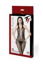 Кэтсьюит-сетка с имитацией шнуровки, открытой спинкой и доступом - Femme Fatale
