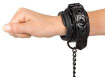 Наручники с геометрическим узором Bad Kitty Handcuffs, цвет черный - ORION