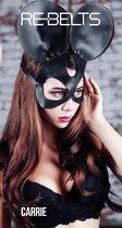 Чёрная маска Carrie Black с круглыми ушками, цвет черный - Rebelts