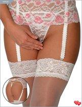 Пояс + стринги контактные, кружево, цвет белый/розовый, размер 48-50 - Vanilla Paradise