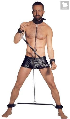 Комплект распорок для всего тела Full Body Restraints Leather, цвет серебряный/черный - ORION