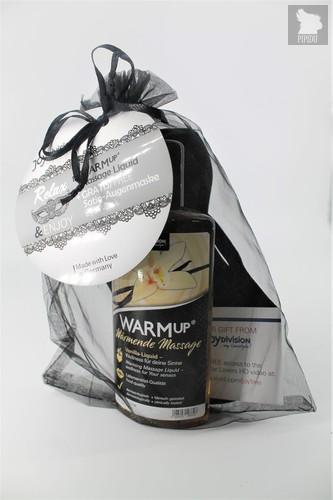 *JoyDivision WARMup Ваниль 150мл Съедобный разогревающий массажный гель + маска на глаза - Joy Division