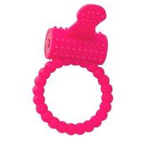 Розовое силиконовое виброкольцо A-toys, цвет розовый - Toyfa