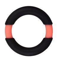 Чёрное эрекционное кольцо NEON STIMU RING 32MM BLACK/ORANGE, цвет черный - Dream toys
