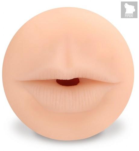Телесный мастурбатор-ротик с эффектом смазки Deluxe Oral, цвет телесный - Shots Media