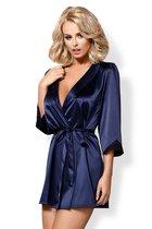 Пеньюар Satinia, цвет синий, размер 2XL - Obsessive