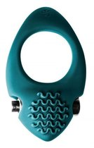 Зеленое эрекционное виброкольцо Pure Passion Midnight, цвет зеленый - Lola Toys