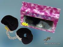 Металлические наручники, обшитые черным мехом - Seven Creations
