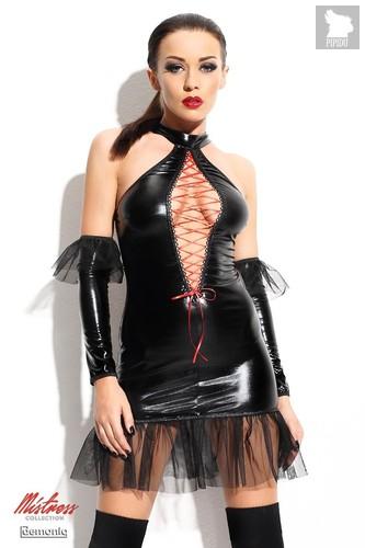 Дерзкое платье с оборками Martha, цвет черный, размер S-M - Demoniq