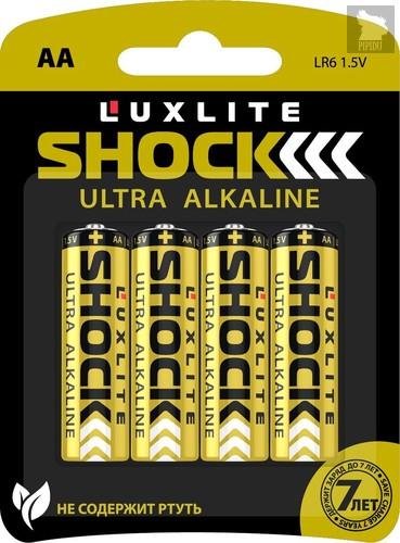 Батарейки Luxlite Shock (GOLD) типа АА - 4 шт. - LUXLITE