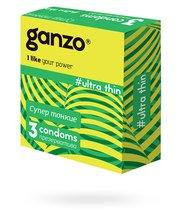 Презервативы Ganzo Ultra thin №3 ультратонкие, 3 шт. - Ganzo
