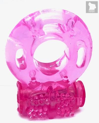 Розовое эрекционное кольцо Vander с вибрацией, цвет розовый - Vandersex