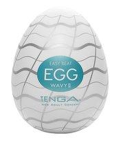 Мастурбатор-яйцо EGG Wavy II, цвет белый - Tenga