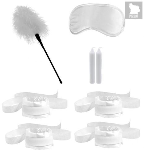 Белый игровой набор БДСМ Honeymoon Bondage Kit, цвет белый - Shots Media