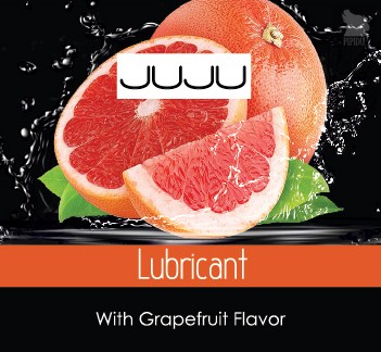 Съедобный лубрикант JUJU грейпфрутовый, 3 мл - JUJU
