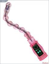 Розовый гнущийся анальный вибратор - 27 см, цвет розовый - Eroticon
