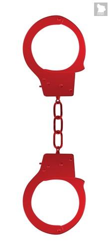 Красные наручники OUCH! Red, цвет красный - Shots Media