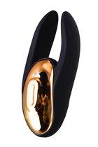 Чёрно-золотой клиторальный вибромассажер WANAME Wave, цвет черный - Waname