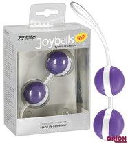 Вагинальные шарики Joyballs Duo, цвет белый/фиолетовый - Joy Division