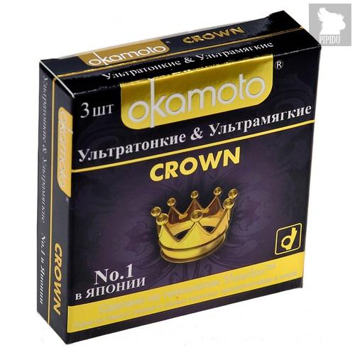 Презервативы Okamoto - Crown №3, ультратонкие и ультрамягкие (блок - 24 упаковки) - Okamoto