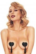 Черные пэстис в форме сердечек с кисточками Issy, цвет черный - Anais