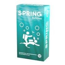 Презервативы SPRING BUBBLES с пупырышками - 12 шт. - Spring