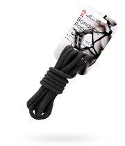 Черная хлопковая веревка для связывания - 3 м. - Lux Fetish