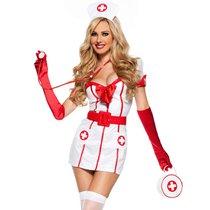 Костюм старшей медсестры, цвет белый/красный, S-M - Le Frivole
