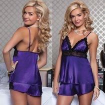 Сорочка с шортиками Diane, цвет фиолетовый, L - Seven`til Midnight