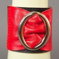 Браслет с овальной пряжкой, цвет красный/черный, OS - Подиум
