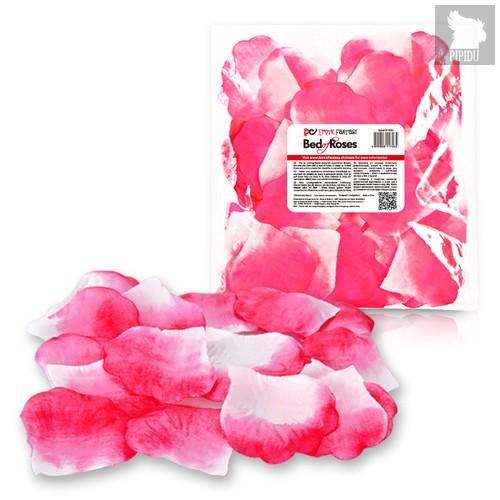 Бело-розовые лепестки роз Bed of Roses, цвет белый - Erotic Fantasy
