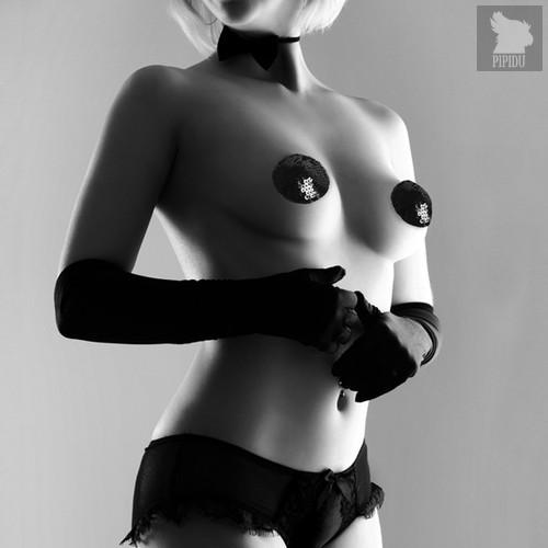 Bijoux Украшение на грудь SEQUIN черное - Bijoux Indiscrets