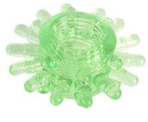 Зеленое эрекционное кольцо с шипами, цвет зеленый - Toyfa