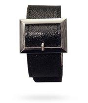 Браслет чёрный с квадратной пряжкой, размер универсальный, Р2117 - Подиум