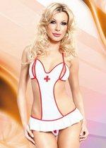 "Боди ""Медсестра Lea"" с юбкой, цвет белый, S-M - SoftLine Collection (SLC)"