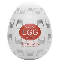 Мастурбатор-яйцо EGG Boxy, цвет белый - Tenga