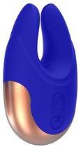 Синий клиторальный стимулятор Lavish - 8,9 см., цвет синий - Shots Media