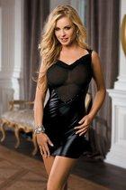 Короткое смелое платье с полупрозрачным лифом, цвет черный, S-L - Dolce Piccante