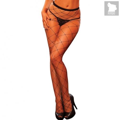 Колготки Fencenet Pantyhose, цвет черный, S-L - Hustler Lingerie