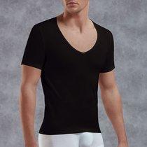 Мужская футболка с V-образным вырезом, цвет черный, M - Doreanse