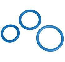Набор из 3 синих эрекционных колец MENZSTUFF COMPLETE SET OF COCKRINGS, цвет синий - Dream toys