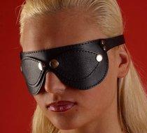 Кожаные очки со съемными шорами, цвет черный - Подиум