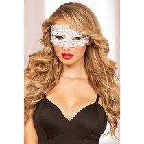 Кружевная маска на глаза с прорезями для глаз, цвет белый - Seven`til Midnight