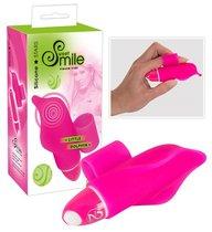 Розовая насадка на палец с вибрацией Little Dolphin, цвет розовый - ORION
