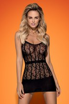Платье Delfina, цвет черный, XL-2XL - Obsessive